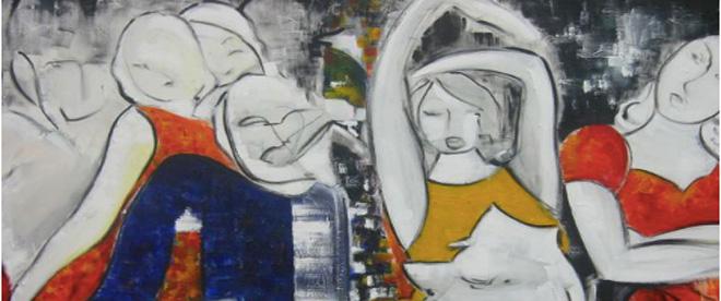 """Jetzt anmelden: """"Mit unseren Augen""""  Ein Malkurs für Erwachsene mit der Künstlerin Bettina Noack"""