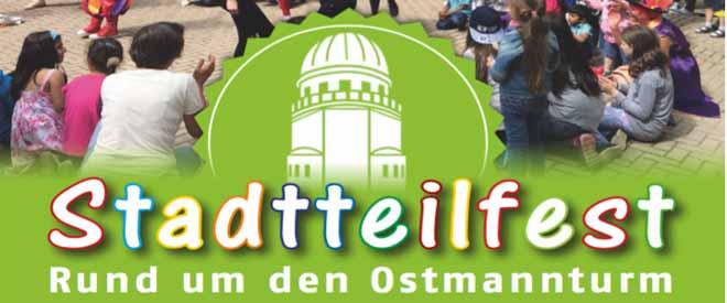 Stadtteilfest am Ostmannturm am Samstag, 3. September von 15.00 bis 18.00 Uhr