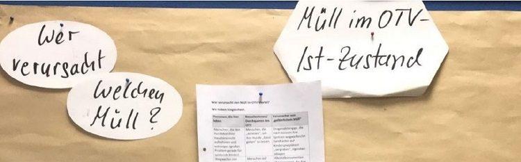 """Ergebnisse des Workshops """"Weg mit dem Müll – Für ein lebenswertes Ostmannturmviertel"""" vom 29.10.2018"""
